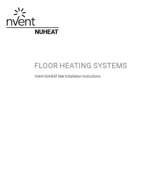 Nuheat Standard Mats The Thinnest Pre Built Electric