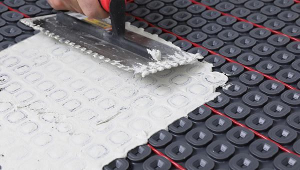 ft Nuheat Membrane uncoupling tile underlayment 161 sq roll
