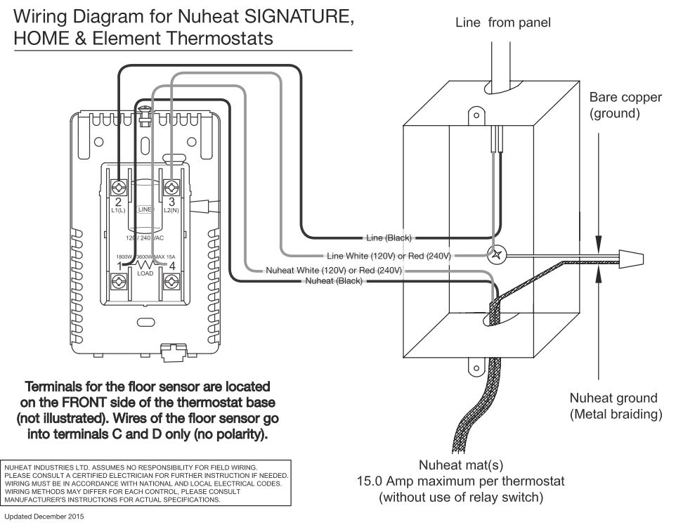 home thermostat by nuheat floor heating rh nuheat com House Wiring Circuits Diagram Light Switch Wiring Diagram