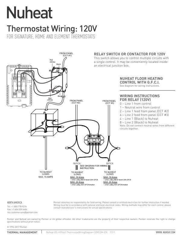 element thermostat by nuheat floor heating Basement Wiring Diagram