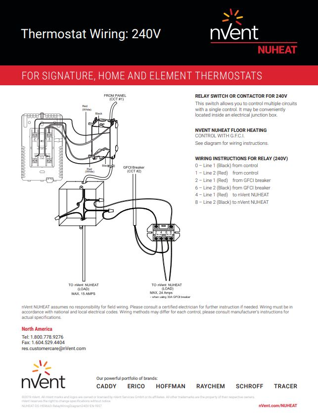 home thermostat by nuheat floor heating Furnace Thermostat Wiring Diagram