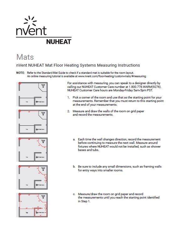 Mat Measuring Instructions