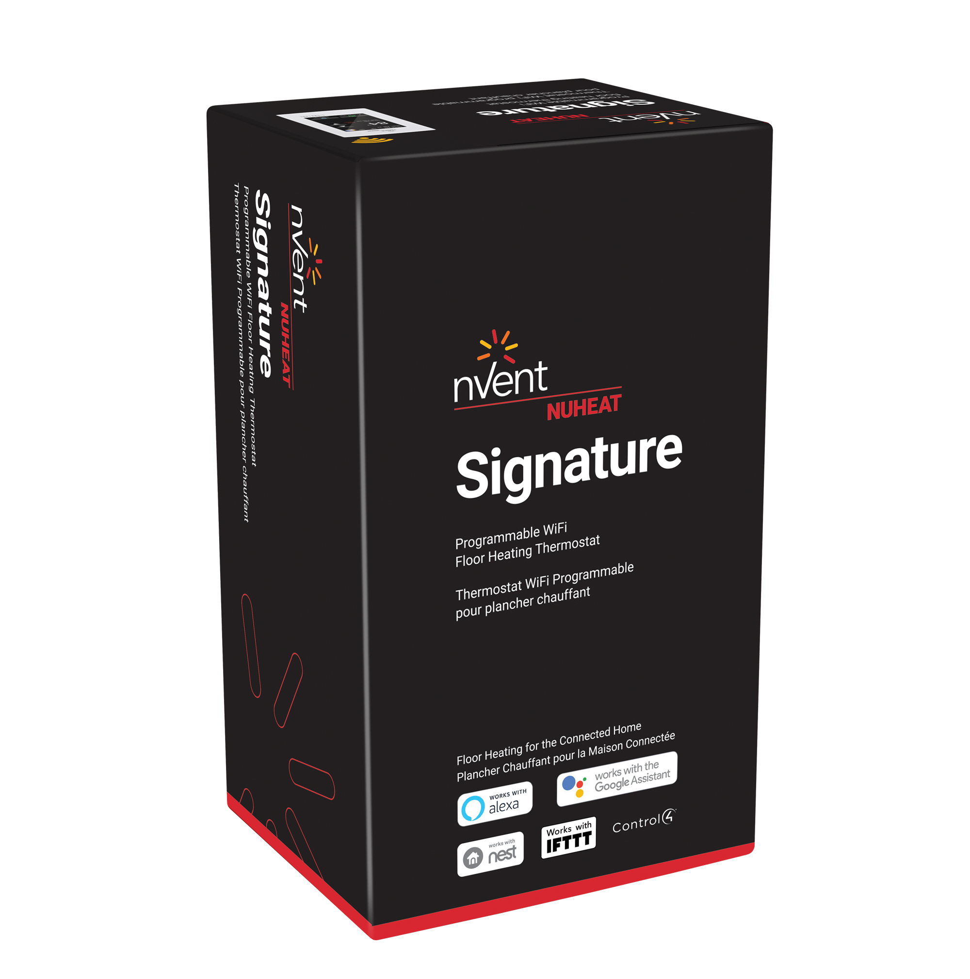 Signature Thermostat By Nuheat Floor Heating Heater Wiring Diagram As Well Portable Baseboard Heaters Together With 3d H60230 Sigtstatsleeve Ml 1812 Trp