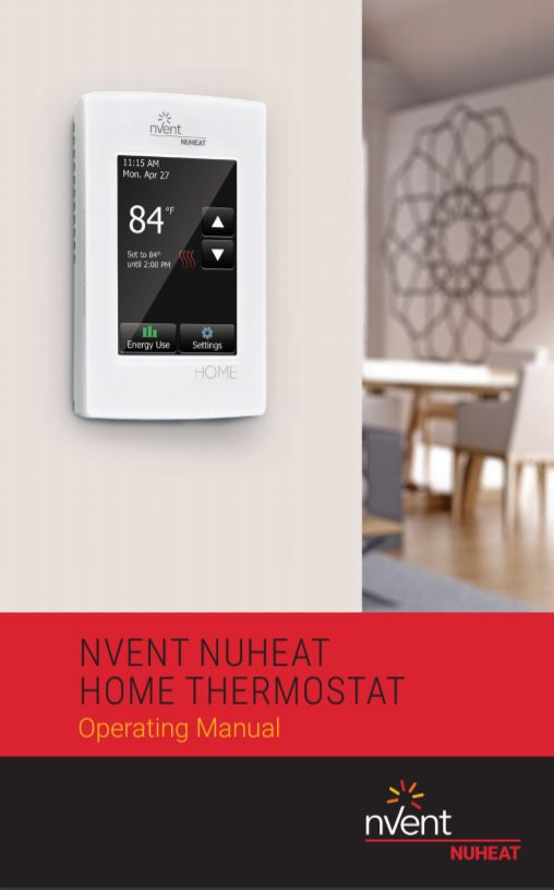 nVent Nuheat Home Thermostat Operating Manual